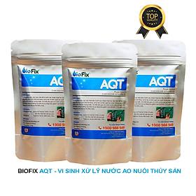 Combo 3 gói vi sinh xử lý tảo, làm sạch nước ao nuôi, kích thích tăng trường thủy sản - BioFix AQT gói 150 gram
