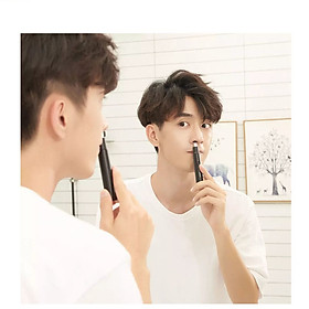 Xiaomi ShowSee C1-BK Portable Electric Nose Hair Trimmer Removable Washable Double-edged 360° Rotating Cutter Heads