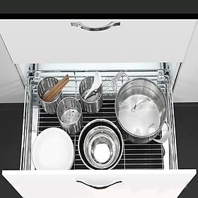 Giá để xoong nồi cho tủ bếp có ray giảm chấn