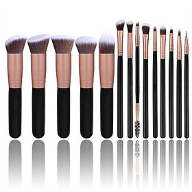 Set of 14 PCS Makeup Brush Kit for Foundation Liquid Cream Blending Powder Eyeshadow Blush Cosmetics Concealer Brushes