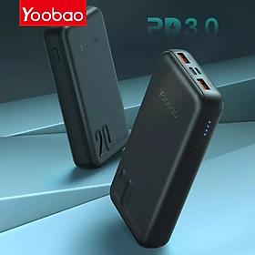 (Hàng chính hãng) Pin sạc dự phòng Yoobao Q20 công suất 20000mAh, sạc nhanh PD 20W Thích hợp cho các chuyến du lịch, công tác xa, phù hợp với người…