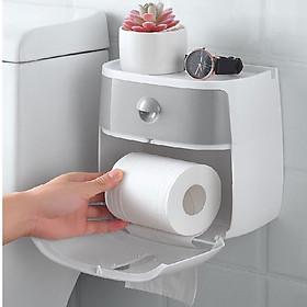 Hộp đựng giấy vệ sinh hai trong một
