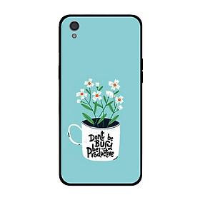 Ốp lưng dành cho điện thoại Oppo A37 Neo9 in họa tiết TRông hoa trên cốc