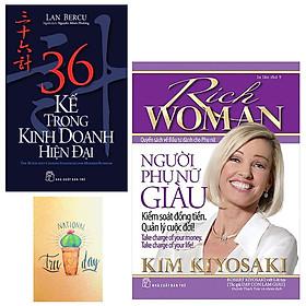 ComboNgười Phụ Nữ Giàu - Kiểm Soát Đồng Tiền. Quản Lý Cuộc Đời! và 36 Kế Trong Kinh Doanh Hiện Đại( Tặng Kèm Sổ Tay Xương Rồng)
