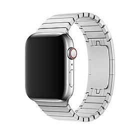 Dây cho đồng hồ Apple Watch 42mm / 44mm Thép không gỉ Link Bracelet Khóa Bướm Phẳng Chốt Thủ Công