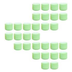 30Pcs Round Face Hand Cream Emulsion Jar Powder Gel Sample Container Pot Green