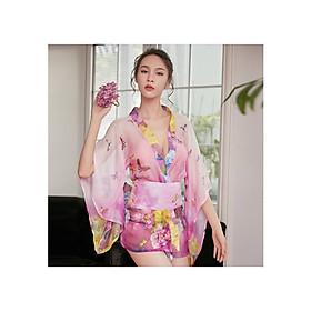 Hình đại diện sản phẩm Áo Choàng Ngủ Sexy Kiểu Kimono Kiêu Sa Lộng Lẫy