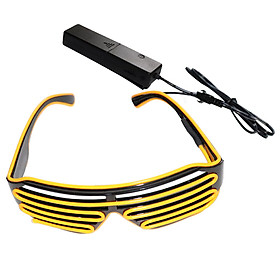 YJ005 Voice-Control Led Glasses 10 Colors Optional Light Up El Wire Neon Rave Glasses Twinkle Glowing Party Club Holiday