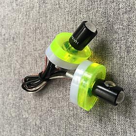 Bô đèn led xi nhan siêu sáng hình oval 2 lớp độc dáo cho xe máy (màu dạ quang)