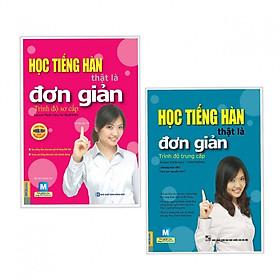 Combo Sách Học Tiếng Hàn: Tự Học Tiếng Hàn Thật Là Đơn Giản Trình Độ Sơ Cấp + Tự Học Tiếng Hàn Thật Là Đơn Giản Trình Độ Trung Cấp (Tặng Bookmark độc đáo CR)