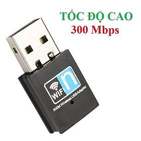 Usb thu sóng wifi cho máy tính laptop tốc độ cao 300Mb không ăng ten