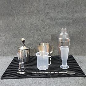 Combo 8 dụng cụ pha chế cà phê, barista (Shaker 700ml vạch chia in đậm)