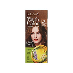 Kem nhuộm màu tóc cao cấp Lavox Youth&Color L7 (Vàng Gỗ đậm)