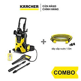 Combo Máy phun rửa áp lực cao Karcher K 5 và dây cấp nước 1.5m