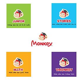 Monkey Junior, Monkey Stories, Monkey Math, VMonkey gói học 12 tháng trên Toàn Quốc