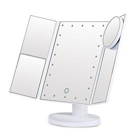 Gương Để Bàn Trang Điểm Có Đèn LED Kết Nối USB