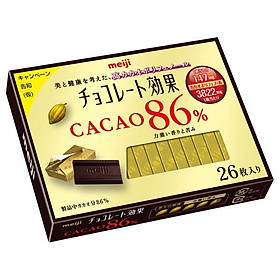 Meiji Hộp 26 miếng socola đen với 86% cacao (130g)