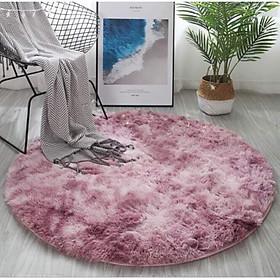 Thảm lông loang tròn 1m2 thảm lông tròn trải sàn giá rẻ nhất thị trường ( đường kính 1m - 1m6)