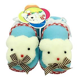 Giày Sơ Sinh Baby Rainbow Bảo Thịnh - Xanh Nhạt (11cm)