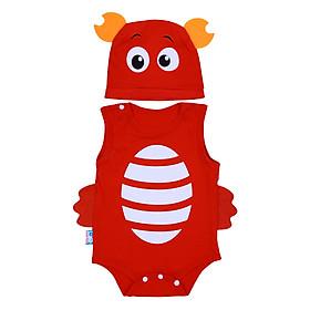 Bộ Bodysuit Hình Con Cua MihaBaby BDS08_KCRAB - Đỏ