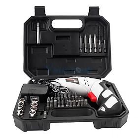 Máy khoan mini cầm tay để tháo và vặn ốc vít 45 chi tiết dùng pin sạc