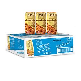 Thùng Sữa Hạnh Nhân Không Đường 137 DEGREES 180ml (Thùng 36 hộp)
