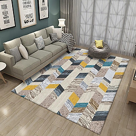 Nordic Style Printing Carpet Kids Crawling Mat for Living Room Tea Table