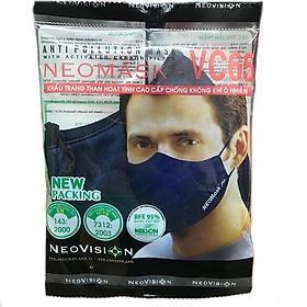 Khẩu Trang Than Hoạt Tính Neovision Neomask Vc 65 Tqg (Xanh)