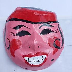 Mặt nạ trung thu truyền thống màu hồng - Mẫu phụ nữ ( loại nửa đầu)