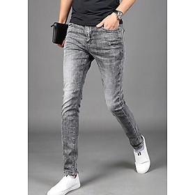 Quần jean dài nam - co giãn- vải dày - xám thời trang -B000