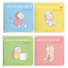 Combo Ehon Nhật Bản - Làm Quen Với Cuộc Sống Cùng TENGU: Mình Sáu Tháng Tuổi + Mình Một Tuổi Rồi Đấy + Tengu Một Tuổi Rưỡi + Xin Chào Tuổi Lên Hai - (Sách Thiếu Nhi / Tặng Kèm Postcard Siêu Dễ Thương)