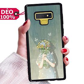 Ốp Lưng hình nền cô gái và hoa dành cho Samsung đủ dòng Samsung Note 4 / 5 / 8 / 9 / 10 / 10 Plus / 10 Lite / 10 Pro / 20 / 20Ultra