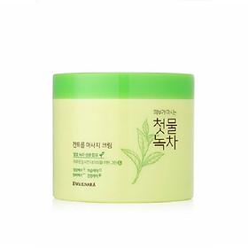 Kem tẩy trang thảo dược trà xanh (Hàn Quốc) Welcos Green Tea Fresh Cleansing Cream 300g