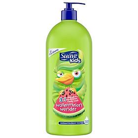 Gội xã tắm Suave Kids 3in1 dưa hấu đỏ Shampoo + Conditioner + Body Wash 1.18 lít
