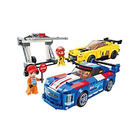 Đồ chơi lắp ráp Trạm bảo trì xe đua cấp tốc Qman 4203 (417 chi tiết)