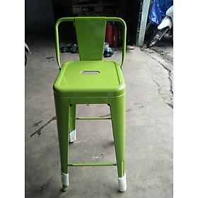 ghế bar thép tựa lưng