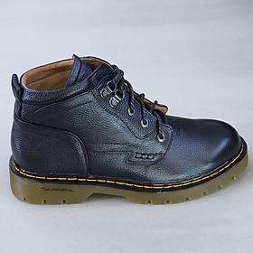 Giày boots nam cổ cao da bò thật đế đốc tờ cao cấp DT2022