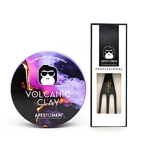 Sáp Vuốt Tóc Apestomen Volcanic Clay V4 + Lược Trifecta Comb
