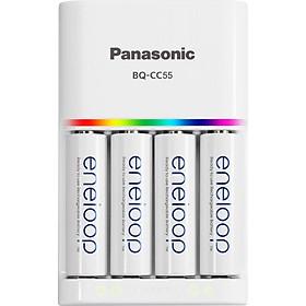 Bộ sạc nhanh và 4 viên Eneloop Panasonic 2000 mah - Hàng chính hãng