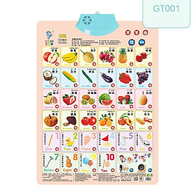 Coated Paper Audio Wall Chart Toy Vocal Early Education Educational Toy
