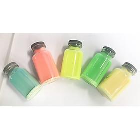 combo 5 màu sơn dạ quang phát sáng trong bóng tối, sơn dạ quang pha sẵn để trong lọ thủy tinh 18ml kèm cọ vẽ tiện lợi sử dụng.