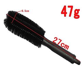 Bàn chải cọ rửa làm sạch lốp ô tô (Đen) 206157 + Tặng 1 Đèn Led Gắn van xe .