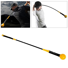 """Yellow Whip Compact Golf Swing Trainer Aid for Improved Rhythm, Flexibility, Balance, Tempo, and Strength – 47"""""""