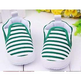 Giày tập đi cho bé trai, giày tập đi cho bé gái đế mềm chống trượt họa tiết sọc dn20051901