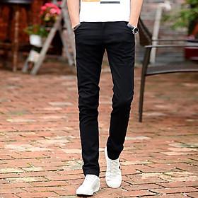 Quần Jean đen Nam dáng ôm body trẻ trung năng động mang phong cách Hàn Quốc chất liệu vải Bò cao cấp co giãn nhẹ dễ phối đồ hợp thời trang - Mẫu HOT