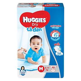 Tã Dán Huggies Dry Gói Đại M48 (48 Miếng) - Bao Bì Mới