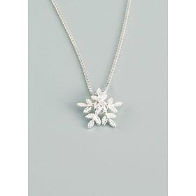 Dây chuyền | Dây chuyền bạc | Dây Chuyền Bạc Nữ Hình Bông Tuyết Trắng - Vòng Cổ Bạc Cho Nữ M1569 Bảo Ngọc Jewelry
