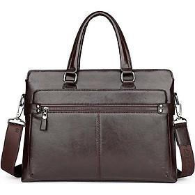 Túi xách cặp da bò đựng laptop công sở T01 40x29x7cm