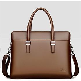 Túi xách da công sở nam có dây đeo chéo cao cấp chống thấm nước DH1803 - Nâu
