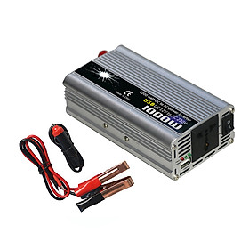 Power Inverter Vehicle Power Converter Universal Modified Sine Wave 1000W DC 12V to 220V AC